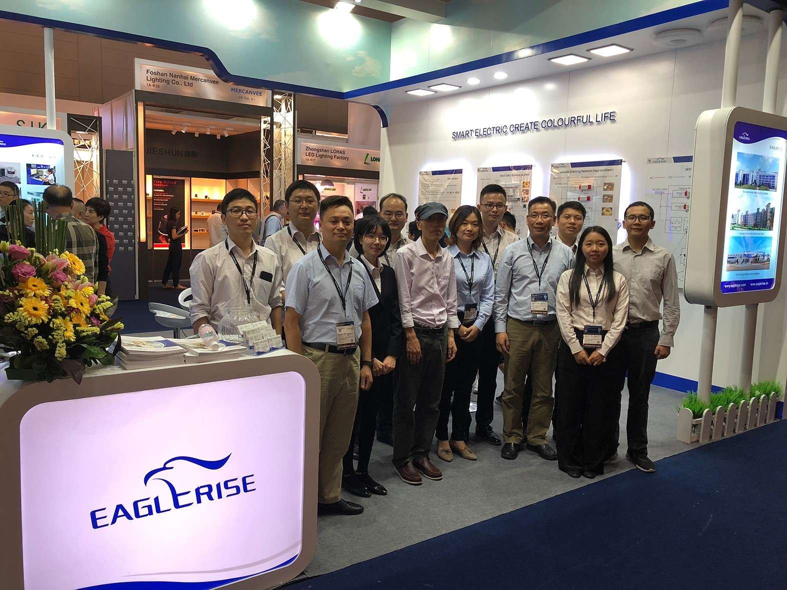 Eaglerise participated in the 2018 Hongkong Lighting Fair (Autumn) with intelligent LED driver products.